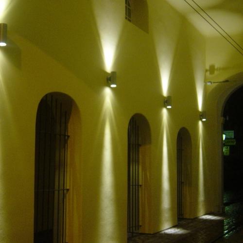 Strahler Außenstrahler Außenbeleuchtung Lichttechnik Elektrotechnik Brinkmann Miksoch Freiburg Gundelfingen Leuchten Wandleuchten