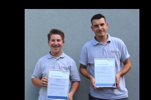 Niklas Stader und Dominik Fischer machen eine Ausbildung zum Elektroniker für Energie- und Gebäudetechnik in unserem Betrieb. Wir freuen uns auf Ihre Unterstützung und heißen Sie herzlich willkommen in unserem Team.