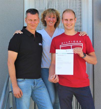 Wir gratulieren Dennis Brinkmann zur erfolgreich bestandenen Meisterprüfung.